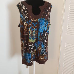 3X Sleeveless Tank Top By NY Collection Woman